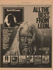 1976 Leon Russell Shelter Records - Vintage Ad