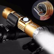 USB wiederaufladbare ultrahelle wasserdichte LED Taschenlampe Zoomable Lampe DE