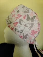 Pink and Gray Butterflies - Surgical Scrub Hat - Unisex