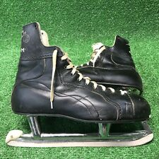 New listing Vintage Mens Ccm Black Hockey Skates Size 12 Bobby Hull Pro ok'd Rare nice