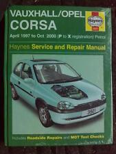 Haynes Manual for VAUXHALL CORSA April 1997 to Oct 2000 Petrol