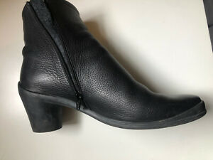 Arche womens Shoes Ankle Boots Booties Leather Black Excellent Condition 40