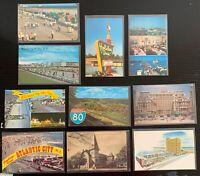 Lot of 10 Original Vintage Postcards - New Jersey - Atlantic City, Wildwood +