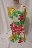 Vintage Jams World Dress Women's Small  Zipper Back Hawaiian Floral Sleeveless