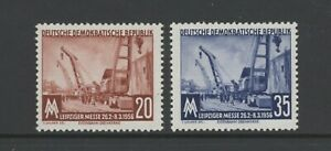 Set of 2 Railway stamps  from Germany  (E255,256) dated 1956 MM