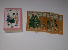 Norman Rockwell The Saturday Evening Post Mint Full Set 1-90 & 6 Card Wood Set