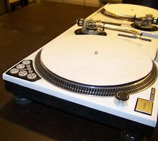 2 - WHITE Technics 1200 MK2 turntable w/recessed dicer, blue LED's & Halo