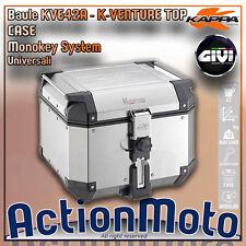 Kofferraum hinten Moto Kappa KVE42A K-VENTURE TOP CASE MONOKEY 42 Lt Aluminium