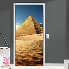 Pyramid - DIY Interior Home Decor - Door Mural Self Adhesive Stickers Bathroom