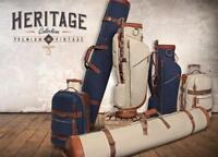 GOLFERS TRAVEL BAG COMPLETE SET HERITAGE RANGE - BEIGE AND TAN