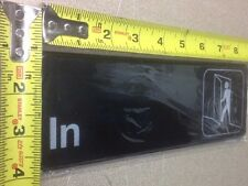 New listing Set (pair of 2) In & Out Adhesive Door Sign Label Information Wall Exit Enter