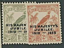 New listing New Guinea 1935 Scott #46-47 King George V Silver Jubilee 1 and 2p mint singles