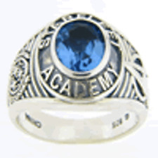 Star Trek Academy Ring - International (blue cubic zirconia)