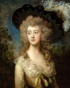 Mrs. William Hammond (1785) by Thomas Gainsborough wall art poster print