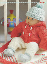 """DOLLS CLOTHES SET KNITTING PATTERN FIT 14"""" DOLLS COAT-HAT-ALL-IN-ONE-BLANKET"""