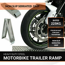 1 x Folding Motorcycle / Bike / Motorbike / MX Loading Ramp 1.8m High Quality