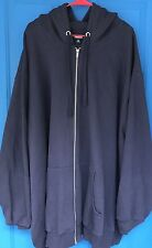 Mens KINGSIZE Navy Blue Jacket Hoodie 6XL Tall NEW Sweatcoat Sweat Coat King