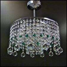 Crystal Chandelier chandlier Chandalier Light Fitting Chrome MO30BALL+Emerald