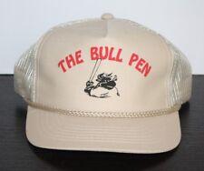 Vintage Bull Pen Baseball Hat Trucker Bull Bat Reliever Relief Pitcher Mesh