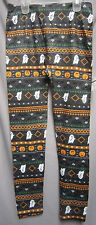 Juniors Small 3-5 Seamless Legging Halloween with Ghosts Pumpkins and Bats