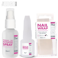 The Edge Nails Professional Silk Wrap Trial Kit / Activator Spray Resin & Wrap