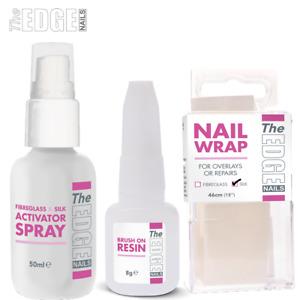 Edge Nails Professional Silk Wrap Trial Kit / Activator Spray Resin & Wrap