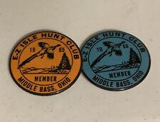 Vintage E-Z Isle Hunt Club Member Badges
