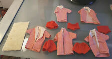 Vintage Barbie Ken Doll Orig Striped Swim Bathing Suit Top Bottoms Towel Lot