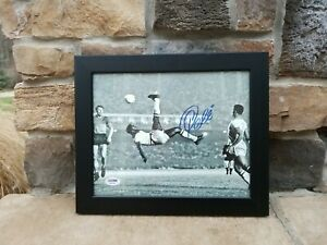 Pele Signed 8 x10 Photo Scissor Soccer Kick  Autographed PSA COA NY Cosmos MLS