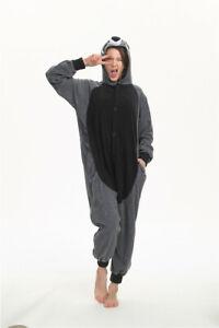 Animal Gray Raccoon Cosplay Pajamas  Halloween Unisex Bodysuit Sleepwear Gift