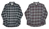 Men's Weatherproof Vintage 100% Cotton Flannel Shirt Choose Size & Color -C
