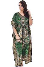 NEW WOMENS LADIES KAFTAN LONG DRESS AFRICAN DRESS GREEN  DASHIKI SIZE 12-24