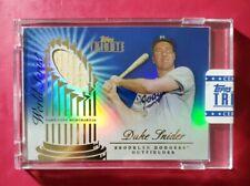 2012 Topps Tribute #WSS-DS DUKE SNIDER (World Series Blue Bat Relic) *RARE #/50*