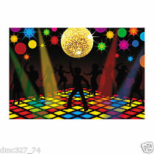70s Funky Disco Saturday Night Fever Party Decoration Wall BACKDROP Prop 3pc set