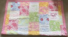 🌺Pottery Barn Kids Pink Island Surf Aloha Hawaii Patchwork Quilt Twin 🌺