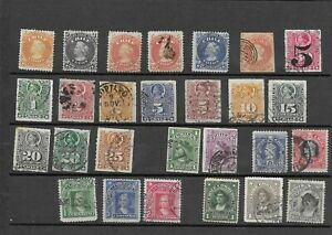 4550: Chile; selection of 27 (2mint) classic Columbus stamps. 1853-1915