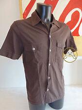 Vintage 90 WIT BOY L USATO Maglietta Camicia Maniche Corte Marrone USA 80