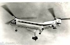 Postcard 770 - Aircraft/Aviation Real Photo Vertol 44 (N74056) Helicopter