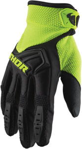 Thor S20 Youth Spectrum Gloves L Acid Black Yellow