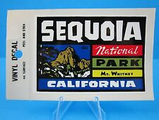"""VINTAGE... """"SEQUOIA NATIONAL PARK CALIFORNIA """" STICKER / DECAL  (MT. WHITNEY)"""