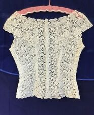 New listing Vintage 1940 Sturzenegger Swiss Lace Sheer Floral Blouse