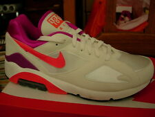 Nike Air Max Retro 180, White/Pink, Mens 11.5 ( this is old stock, not mint)