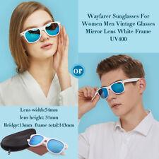Sunglasses For Women Men Ladies Girls Blue Mirror Lens White Frame 100%25 UV400