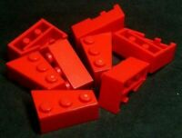 Lego Brick Wedge 2x3 Left & Right [6565 & 6563] Red x4 pairs