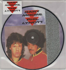 """GARY MOORE + PHIL LYNOTT """"OUT IN THE FIELDS""""  PICTURE DISC VINYLE 7"""" NEUF"""