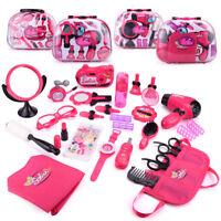Makeup Tool Kit Sets Hair Dryer Cosmetics Toys for Girls Kids Children Furniture