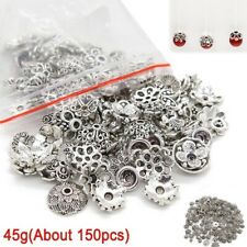 45g Mixed Tibet Silver Bead Caps Spacer Beads For Jewelry Making About 150Pcs