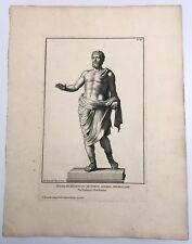 Statue Settimio Severo Imperatore Engraving Robert Van Audenaerd Plate XCIL 1704