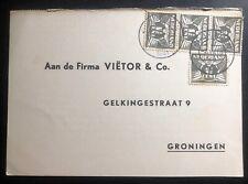 1941 Groningen Netherlands Commercial Postcard Cover