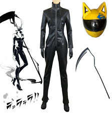 Original Anime DuRaRaRa Celty Sturluson Cosplay Costume Black Biker Jumpsuit